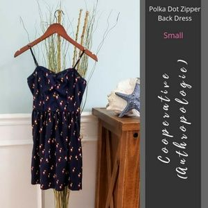 Cooperative (Anthro) | Back Zip Polka Dot Dress